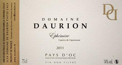 Château Daurion – Ephémère – Caprice de Vigneronne