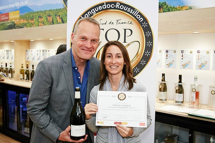 London Wine Fair : Le Long du Parc White is in the Top 100 Languedoc Roussillon Sud de France with Tim Atkin